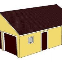 Хозблок с гаражом и баней