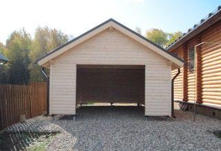 Строительство каркасного гаража на винтовых сваях под ключ